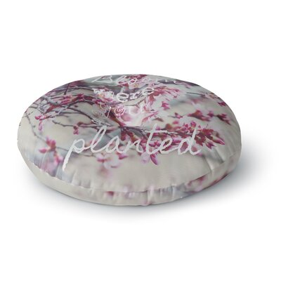 Suzanne Carter Bloom Pink Round Floor Pillow Size: 23 x 23