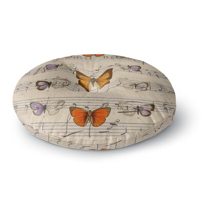 Suzanne Carter Butterfly Opera Music Round Floor Pillow Size: 26 x 26