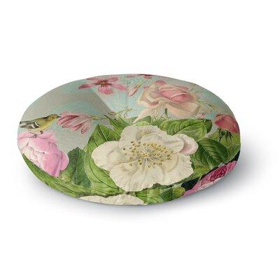 Suzanne Carter Vintage Garden Cush Flowers Round Floor Pillow Size: 23 x 23