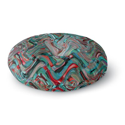 Suzanne Carter Abstract Wave Abstract Round Floor Pillow Size: 26 x 26