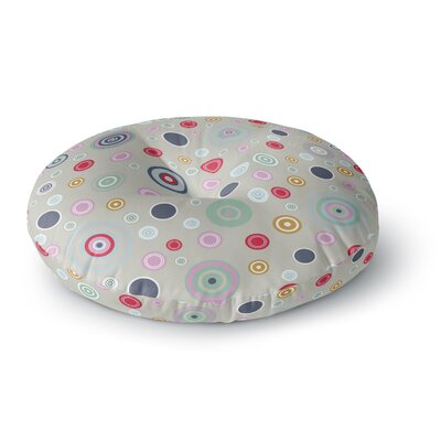 Suzanne Carter Circle Circle I Round Floor Pillow Size: 26 x 26