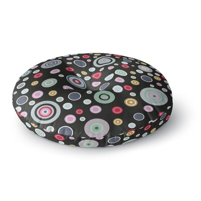 Suzanne Carter Circle Circle II Round Floor Pillow Size: 26 x 26