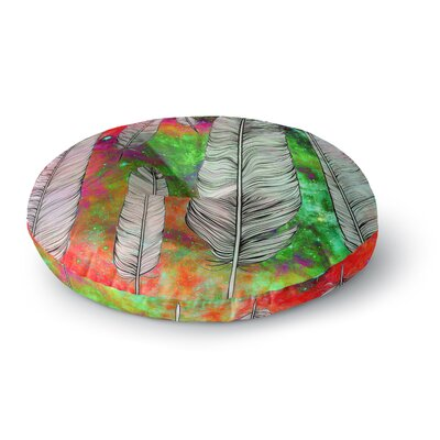 Suzanne Carter Feather Rainbow Space Round Floor Pillow Size: 26 x 26