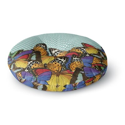 Suzanne Carter Butterfly Polka Round Floor Pillow Size: 26 x 26