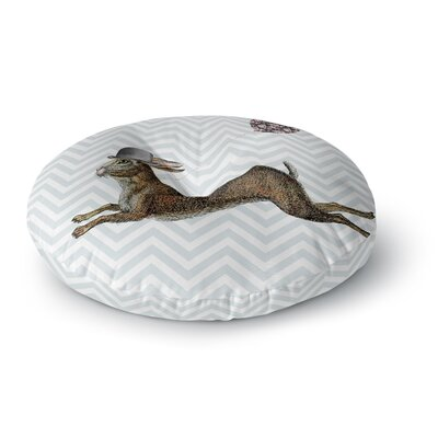 Suzanne Carter Hare Today Rabbit Round Floor Pillow Size: 26 x 26