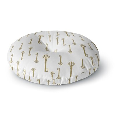 Suzanne Carter Vintage Gold Keys II Round Floor Pillow Size: 23 x 23