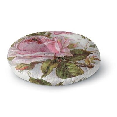 Suzanne Carter Vintage Rose Floral Round Floor Pillow Size: 23 x 23