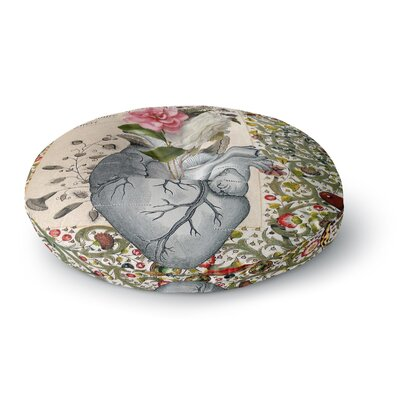 Suzanne Carter Her Heart is a Garden Round Floor Pillow Size: 26 x 26