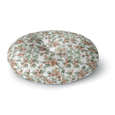 Suzanne Carter Vintage Flowers Floral Round Floor Pillow Size: 23 x 23