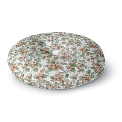 Suzanne Carter Vintage Flowers Floral Round Floor Pillow Size: 26 x 26