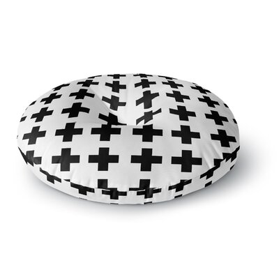 Suzanne Carter Swedish Cross Round Floor Pillow Size: 23 x 23