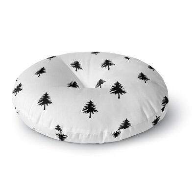 Suzanne Carter Pine Tree Round Floor Pillow Size: 23 x 23
