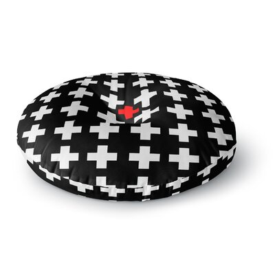 Suzanne Carter Swiss Cross Round Floor Pillow Size: 23 x 23