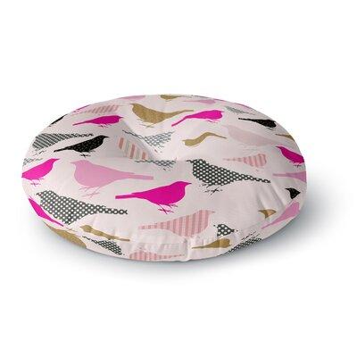 Suzanne Carter Chirp Bird Round Floor Pillow Size: 23 x 23
