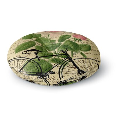 Suzanne Carter Vintage Cycle Floral Round Floor Pillow Size: 26 x 26