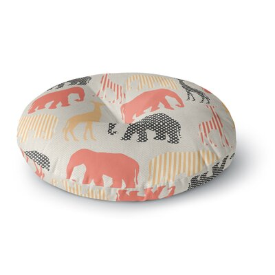 Suzanne Carter Zoo Round Floor Pillow Size: 23 x 23