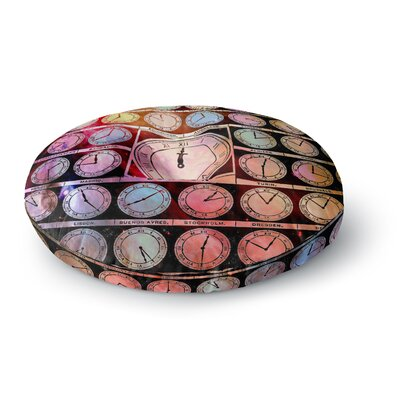 Suzanne Carter Time Space Rainbow Round Floor Pillow Size: 23 x 23
