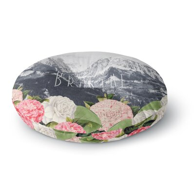 Suzanne Carter Breathe Floral Landscape Round Floor Pillow Size: 23 x 23