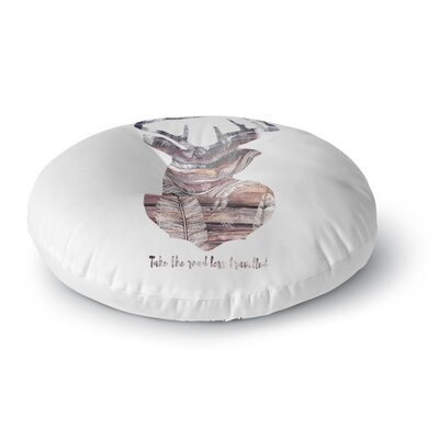 Suzanne Carter The Road White Round Floor Pillow Size: 26 x 26