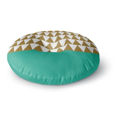 Suzanne Carter Geo Green Round Floor Pillow Size: 26 x 26