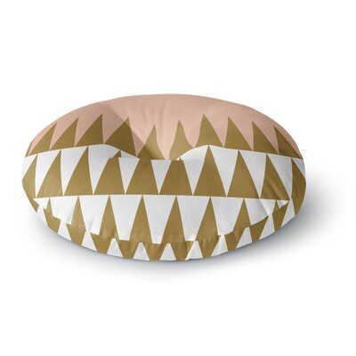 Suzanne Carter Peach Geo Round Floor Pillow Size: 26 x 26
