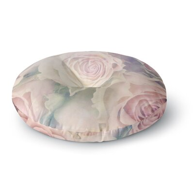 Suzanne Carter Faded Beauty Blush Floral Round Floor Pillow Size: 23 x 23