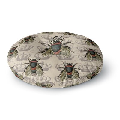 Suzanne Carter Queen Bee Round Floor Pillow Size: 26 x 26