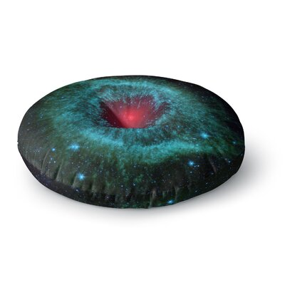 Suzanne Carter Helix Nebula Celestial Round Floor Pillow Size: 23 x 23