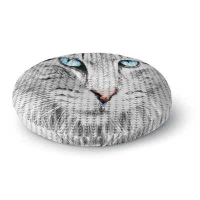 Suzanne Carter Cat Digital Round Floor Pillow Size: 23 x 23