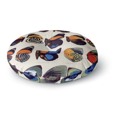 Suzanne Carter Vintage Wings Nature Round Floor Pillow Size: 26 x 26
