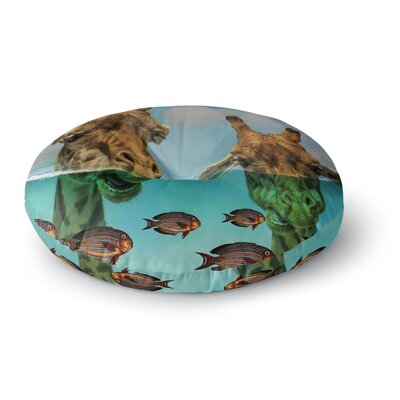 Suzanne Carter Larry & Fred Periscope Mixed Media Animals Round Floor Pillow Size: 23 x 23