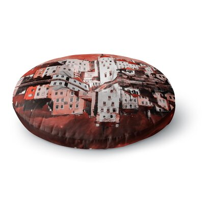 Suzanne Carter Red Sky At Night Round Floor Pillow Size: 23 x 23