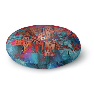 Suzanne Carter Marbled Skyline Round Floor Pillow Size: 26 x 26