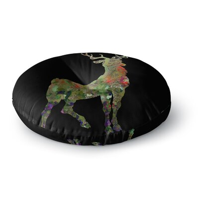 Suzanne Carter Paisley Deer Abstract Round Floor Pillow Size: 26 x 26