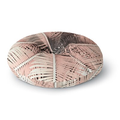Suzanne Carter Palm-Peach Round Floor Pillow Size: 26 x 26