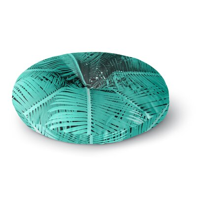 Suzanne Carter Palm-Aqua Round Floor Pillow Size: 23 x 23