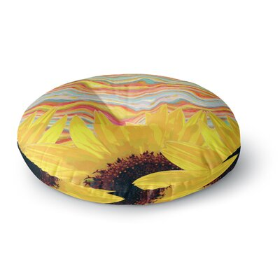 Suzanne Carter Sunflower Dreaming Round Floor Pillow Size: 26 x 26