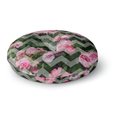 Suzanne Carter Chevron Rose Round Floor Pillow Size: 23 x 23