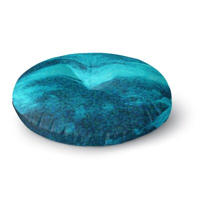 Suzanne Carter Confetti Ocean Digital Round Floor Pillow Size: 23 x 23