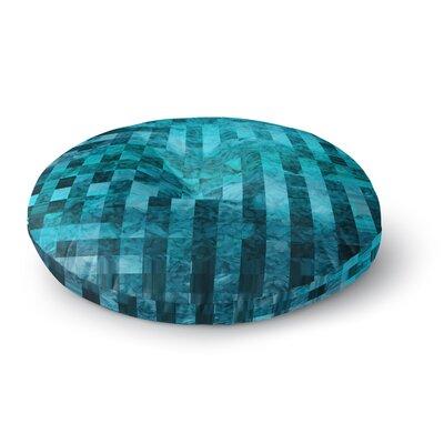 Suzanne Carter Mosaic Ocean Round Floor Pillow Size: 26 x 26