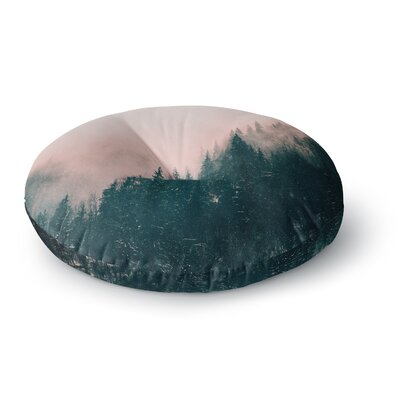 Suzanne Carter Pink Haze Digital Round Floor Pillow Size: 23 x 23