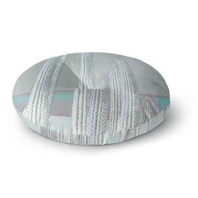 Suzanne Carter Cactus-Blue Digital Round Floor Pillow Size: 23 x 23