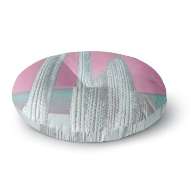 Suzanne Carter Cactus-Pink Digital Round Floor Pillow Size: 26 x 26