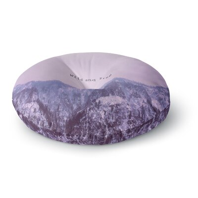 Suzanne Carter Wild and Free 2 Digital Round Floor Pillow Size: 26 x 26