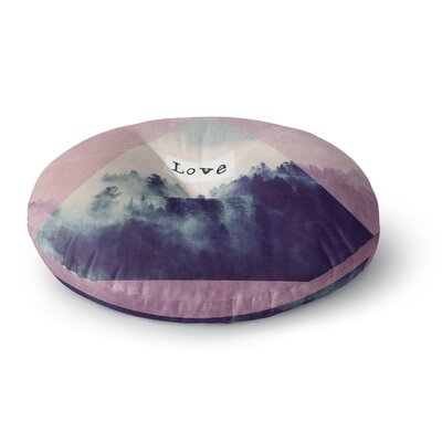 Suzanne Carter Love Digital Round Floor Pillow Size: 23 x 23
