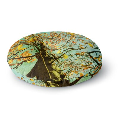 Sylvia Coomes Autumn Tree Round Floor Pillow Size: 23 x 23