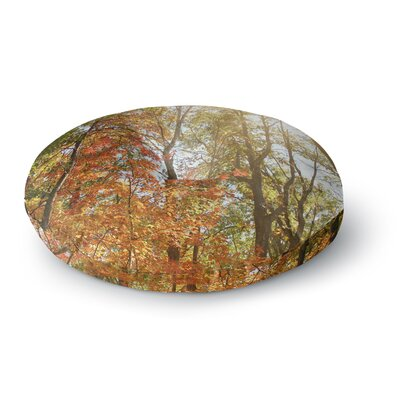 Sylvia Coomes Autumn Trees 1 Round Floor Pillow Size: 26 x 26