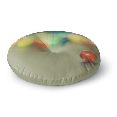 Sylvia Coomes Marble Bokeh Abstract Round Floor Pillow Size: 26 x 26