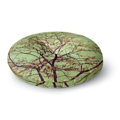 Sylvia Coomes Modern Fall Tree Round Floor Pillow Size: 23 x 23