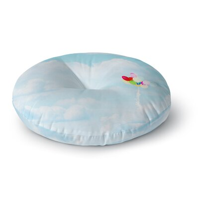 Sylvia Coomes Balloons in the Sky Photography Kids Round Floor Pillow Size: 23 x 23